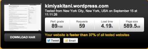 pingdomを利用したサイトの速度チェック(個人ブログ)