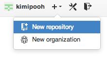 GitHub上でリポジトリを作成する